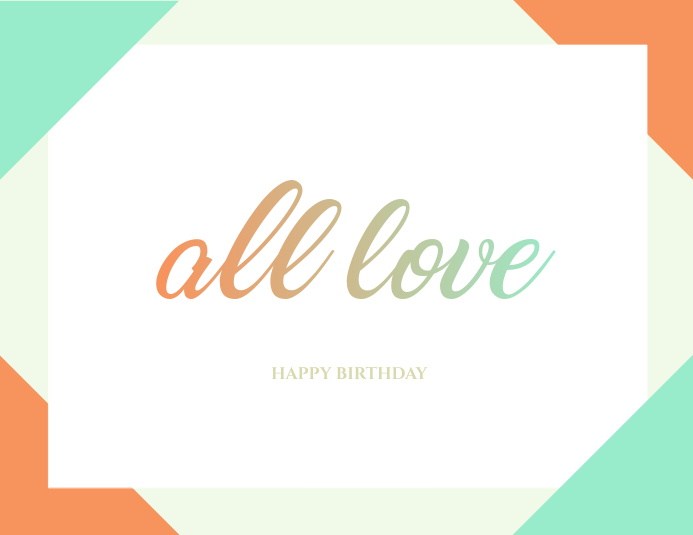 Minimal Birthday Card