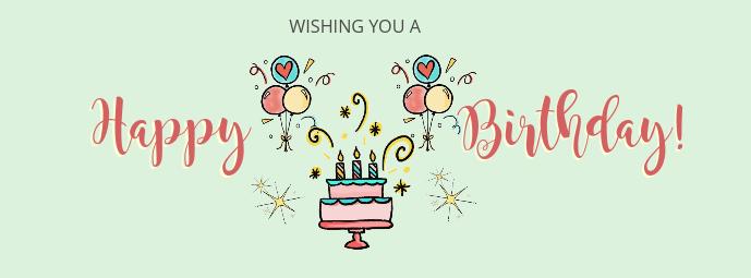 Minimal Birthday Wish Facebook Cover Template