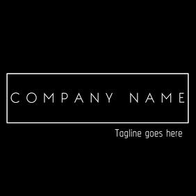 Minimal Black and white logo design