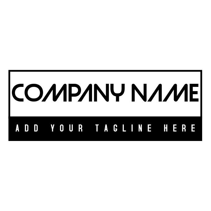 Minimal black and white modern logo