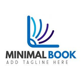 minimal book logo โลโก้ template