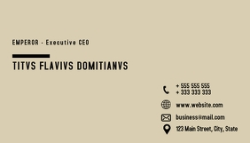 Minimal business card design template