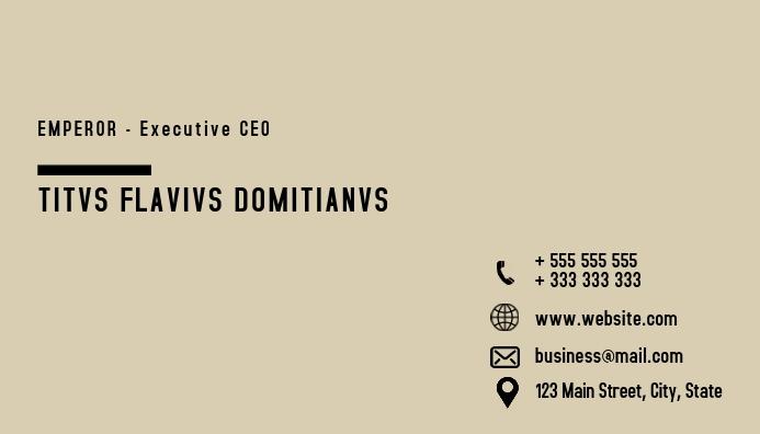 Minimal business card design template