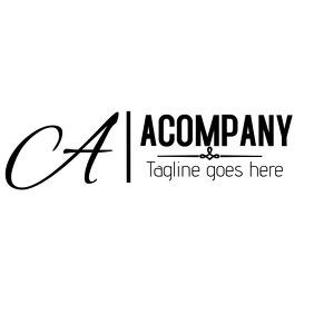 Minimal calligraphy alphanumeric logo