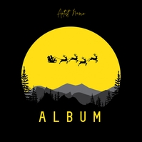 Minimal Christmas Illustration album cover template