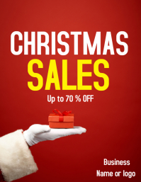 Minimal Christmas Sales Flyer
