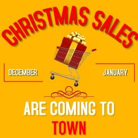 Minimal Christmas sales instagram post