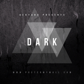 Minimal Dark Album CD Cover Template