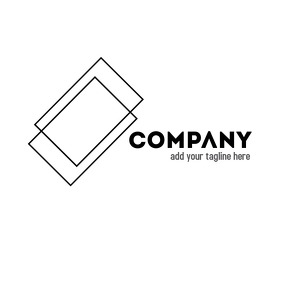 Minimal double layer geometrical logo