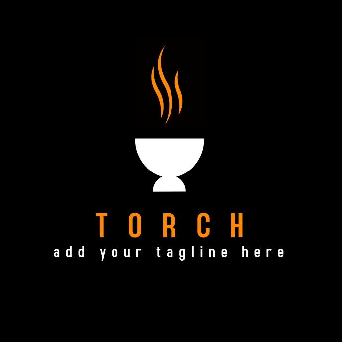 minimal elegant torch logo