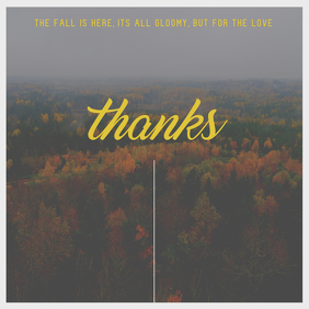 Minimal Fall Thank You Card