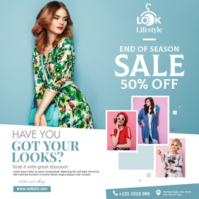 Minimal Fashion Sale Ad Instagram Post template
