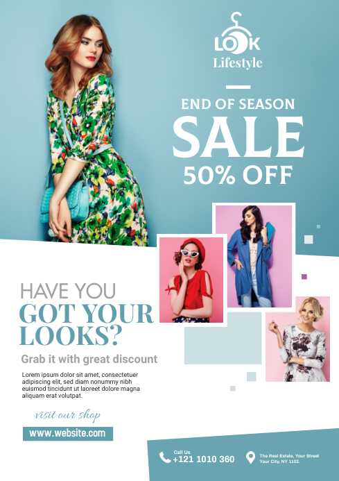 Minimal Fashion Sale Flyer A4 template