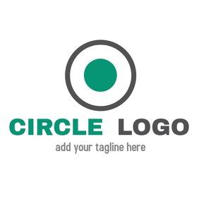 minimal geometrical circular logo