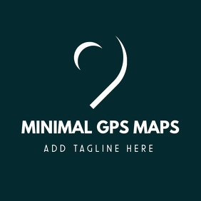 minimal gps maps logo template design