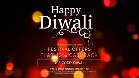 Minimal Happy Diwali Digital Display Template