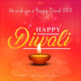 Minimal Happy Diwali Instagram Ad Template Instagram-bericht