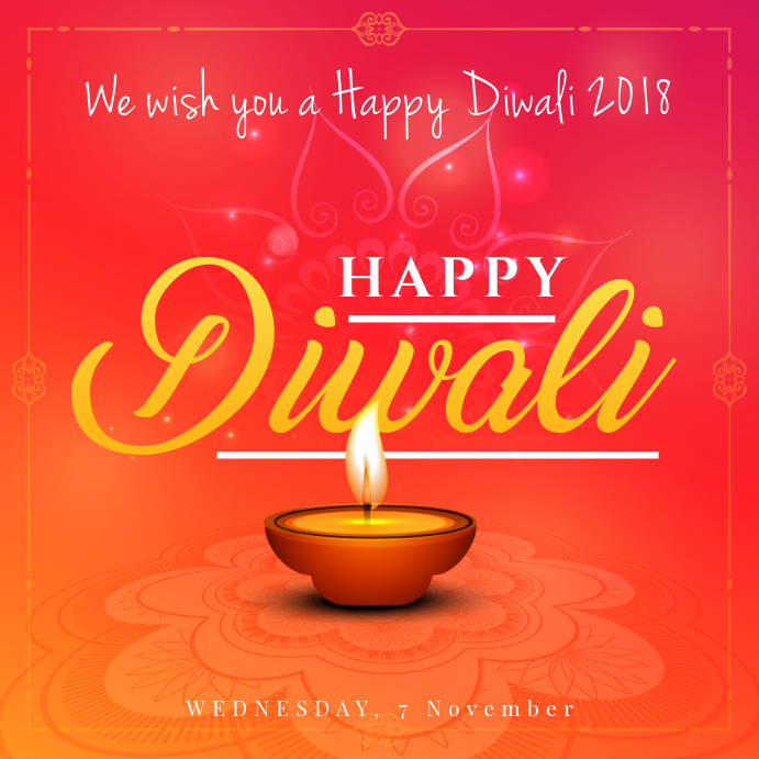 Minimal Happy Diwali Instagram Ad Template