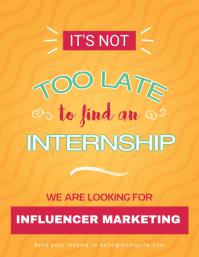 minimal hiring internship flyer template