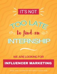 Minimal Hiring Internship Flyer Template