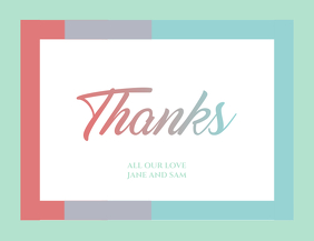 Minimal Joyful Thank You Card