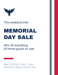 Minimal Memorial Day Sale Flyer Template