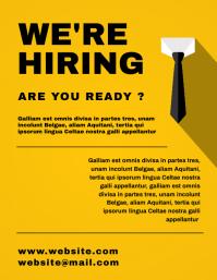 minimal modern advertisement hiring template Volante (Carta US)