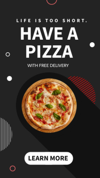 minimal pizza instagram story or whatsapp sta template