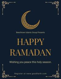 Minimal Ramadan Wish Flyer Template