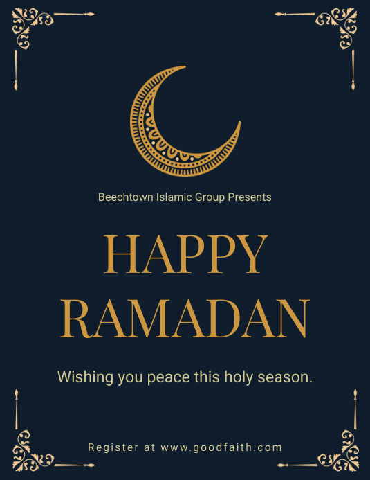 Minimal Ramadan Wish Flyer Template