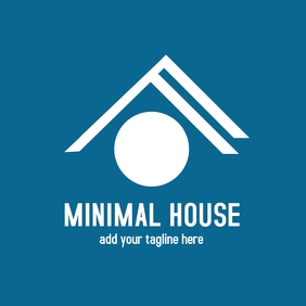 Minimal real estate agency logo
