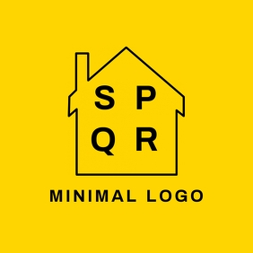 Minimal real estate logo