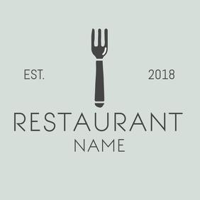 Minimal restaurant logo