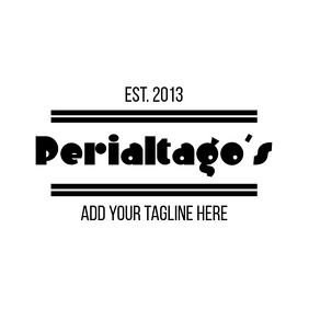 Minimal Retrò vintage black and white logo Logótipo template