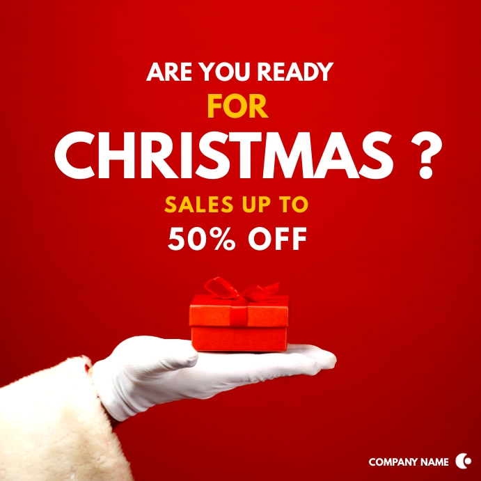 minimal sales advertisement christmas sales Post Instagram template