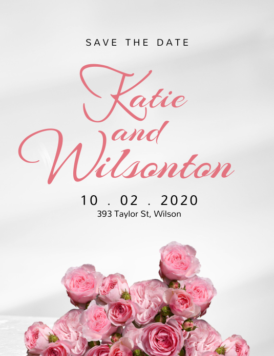 Minimal Save The Date Card Template | PosterMyWall