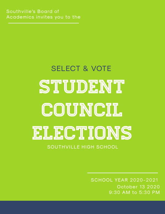 Minimal School Election Poster Template
