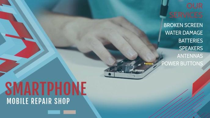 Minimal Smart Phone Repair Facebook Cover Video