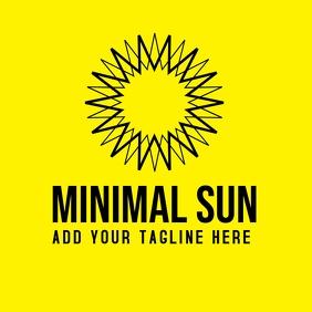 minimal sun logo