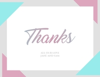 Minimal Thank You Card
