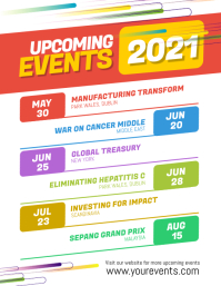 Minimal Upcoming Events Calendar Template