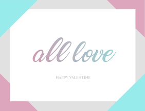 Minimal Valentine Card