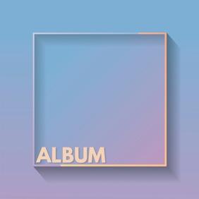 Minimalist album cover art purple gradient template