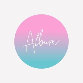 Minimalist album cover gradient art Okładka albumu template