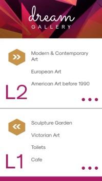 Minimalist Art Gallery Directory Digital Signage