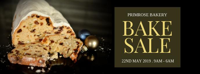 Minimalist Bake Sale Facebook Cover Template