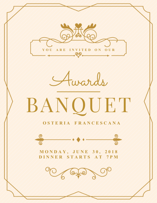 Minimalist Banquet Flyer Invitation Template