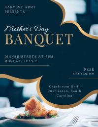 Minimalist Banquet Flyer Invitation Template Pamflet (VSA Brief)