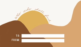 Minimalist Bible Verse Gift Tag template