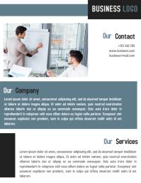 Minimalist Business Flyer Template Design